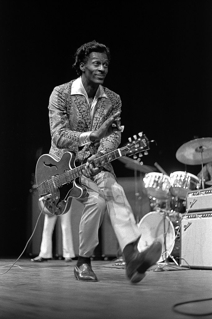 Rock and Roll pioneer Chuck Berry duck walks onstage at the Berkeley. - - Rock and Roll pioneer Chuck Berry duck walks onstage at the Berkeley Community Theatre in May, 1969 in Berkeley, California. Janis Joplin, Chuck Berry Duck Walk, Rock N Roll Baby, Hard Rock, Music Is Life, My Music, Lemmy Kilmister, Charles Edward, Beatles