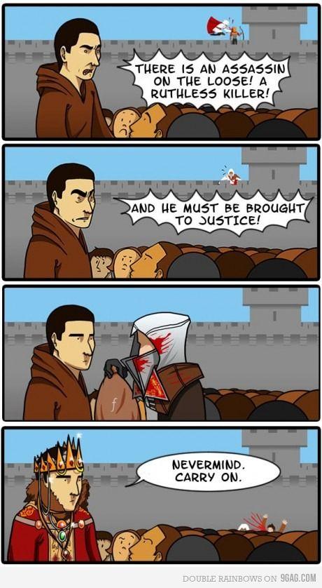 Assassin's Creed logic, makes perfect sense