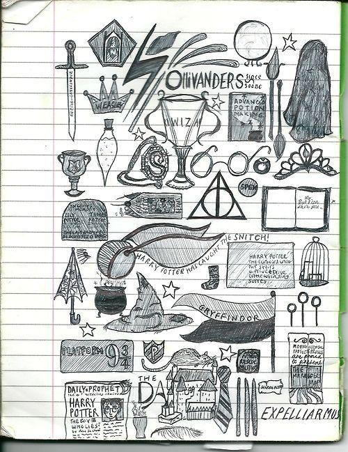 Potter Frenchy Party - Une fête chez Harry Potter: Harry Potter et les doodles, letterings, zentangles et autres dessins magiques