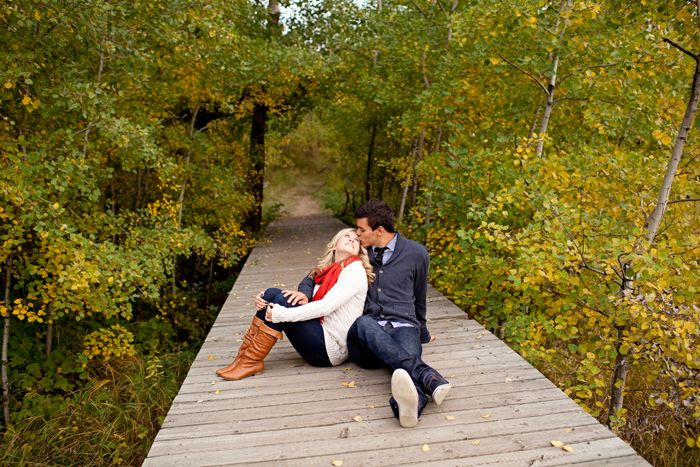 Vibrant Fall Engagement Session with a Beach Picnic in Alberta, Canada | Images by Erin Walker Photography | Via Modernly Wed | 11