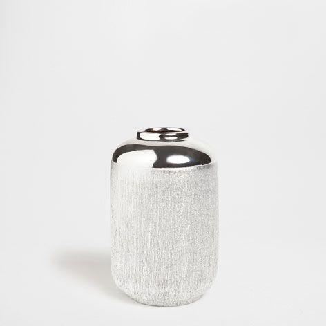 Cylindrical scored ceramic vase - Vases - Decor and pillows | Zara Home United States