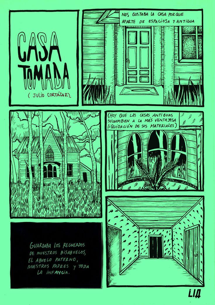 casa tomada, por LIA  #literatura #cortázar  #realismomagico