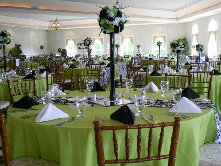 38 best green sweet 15 ball gown images on pinterest ball my daughters wedding reception decorations green with white and black damask these are all junglespirit Gallery