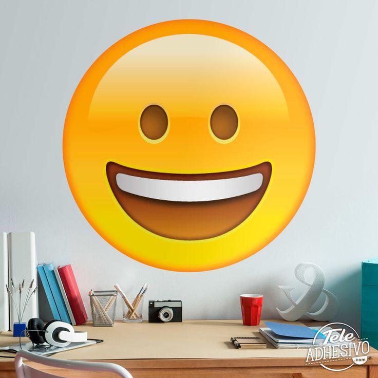 Vinilos Decorativos: Cara con gran boca sonriente #vinilo #emoji #emoticono #decoracion #pared #caras #TeleAdhesivo