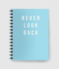 Never Look Back Spiral notebook. IDR 85.000 / $6.3. 60 sheet & concorde paper. #promo #shoppingtime #musthave #bestdeals #minimalism