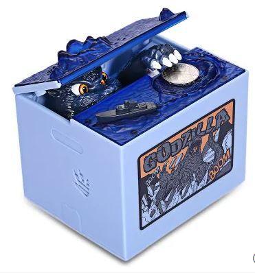 Roaring Monster Musical Money Box Cool Piggy Bank BLUE
