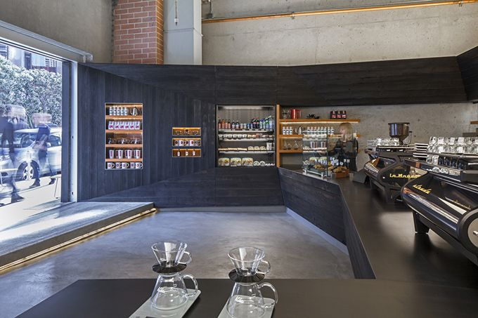 The three-store Coffee Bar group in San Francisco is one of the showcases of the coffees of Mr. Espresso, a well-known Bay Area roaster.