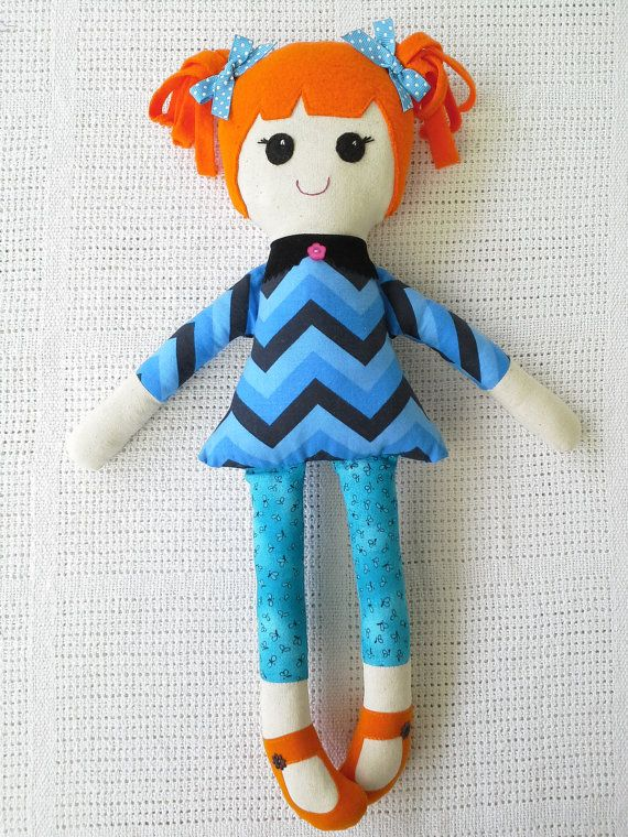Handmade Fabric Doll by SenoritaPoupee on Etsy