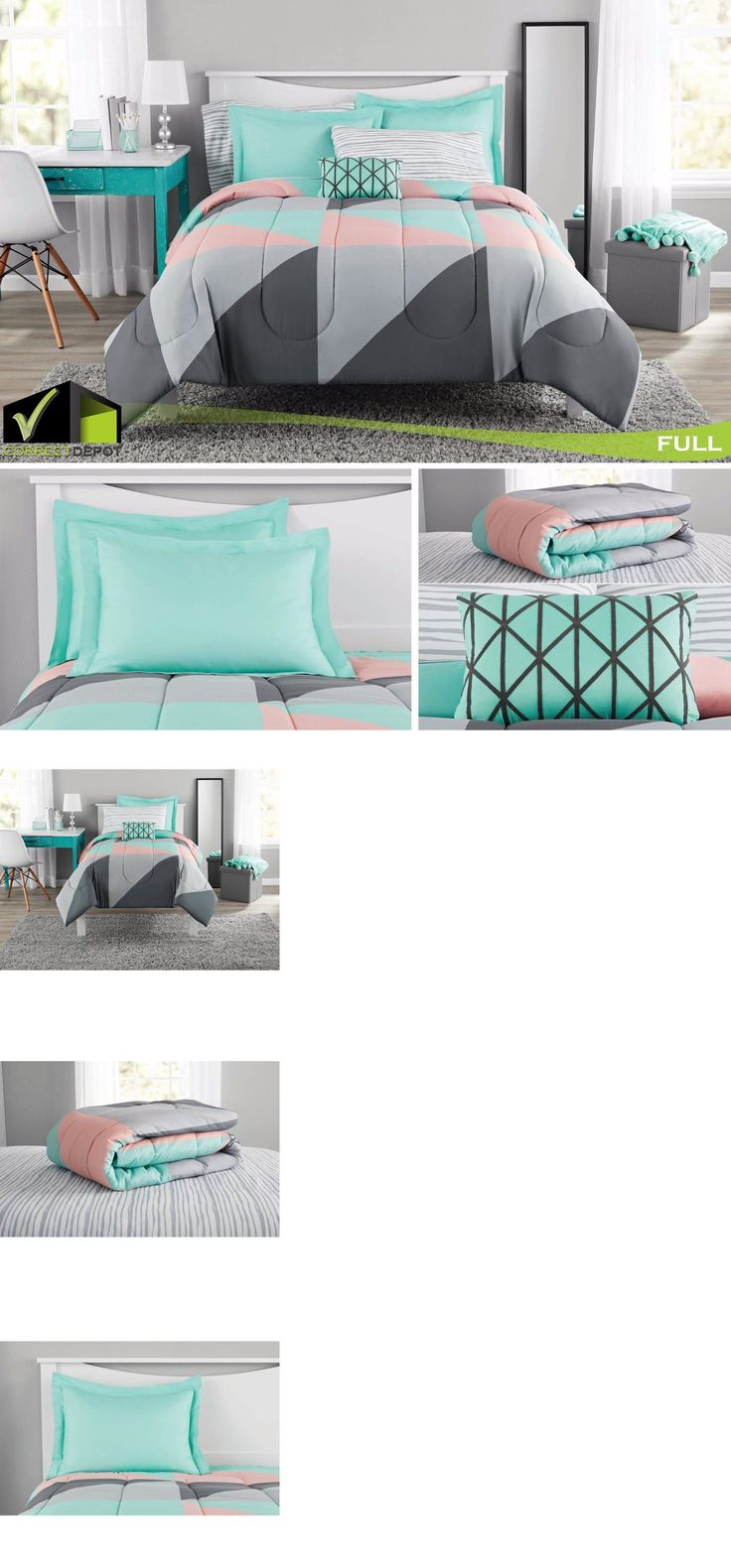 Pcs peter pan bedding set duvet cover fitted sheet pillow case worl - Discount Furniture Teal Bedding Sets Queen Bed In A Bag 20469 Gray And Teal Bed In A Bag