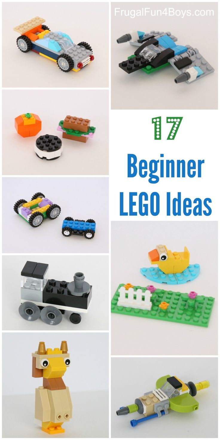 17 Beginner LEGO Project Ideas with Classic Tubs - All of these projects can be made using the LEGO Classic Creative Building Set.  Or, just use the ideas as a springboard for kids to create their own designs!  LEGO club ideas.