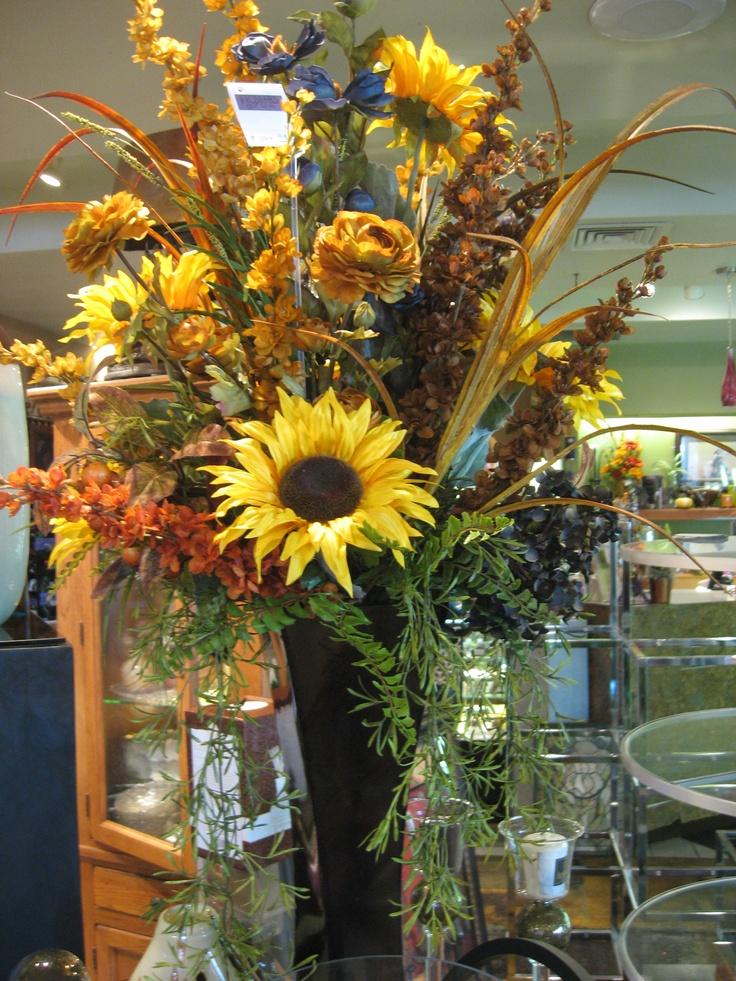 Beautiful Silk Sunflower Arrangement. | Floral Ideas ...