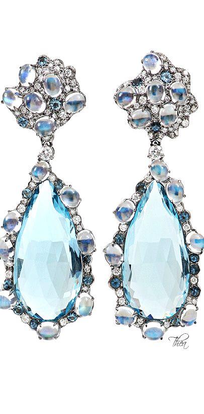 ARUNASHI ● Blue Topaz Earrings// London Jewelers, Manhasset, NY Arunashi Jewelry