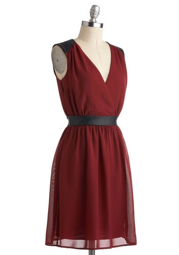 ModCloth Fine Wine Dress