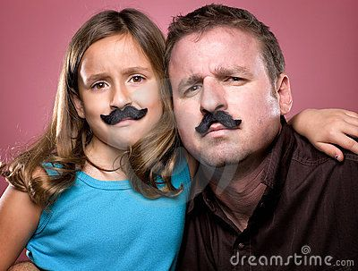 Father And Daughter Wearing Fake Mustaches - Download From Over 50 Million High Quality Stock Photos, Images, Vectors. Sign up for FREE today. Image: 21865006