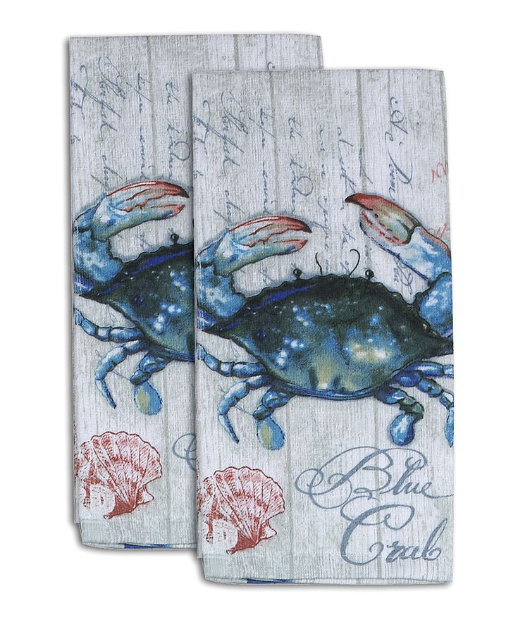 Crab-Fest Terry Towel - Set of Two