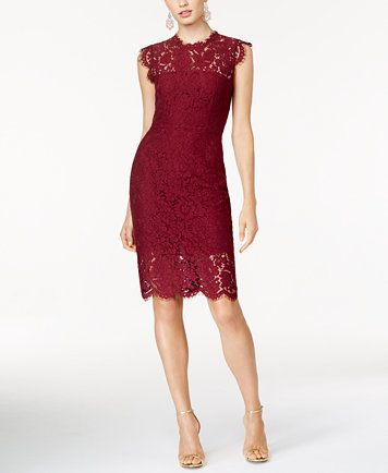 4f960e2cb996 Rachel Zoe Cap-Sleeve Lace Dress | macys.com | My Style | Dresses ...