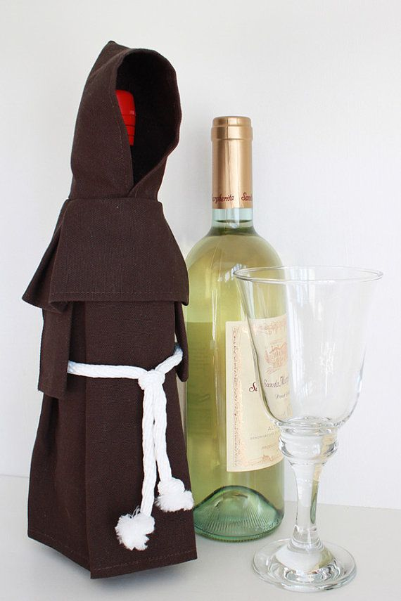 Wine Monk  - Wine Bottle Cover, Costume, and Unique Gift