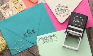 Groupon - Personalized Self-Inking Stamps with Shipping Included from 2712 Designs (Up to 59% Off). Four Options Available in [missing {{location}} value]. Groupon deal price: $22.50