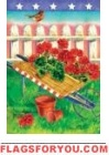Patriotic Geraniums Garden Flag - 3 left