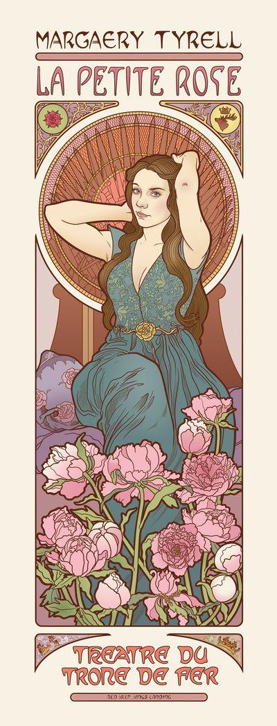 The little rose Art Print by ElinJ | Society6 art-nouveau
