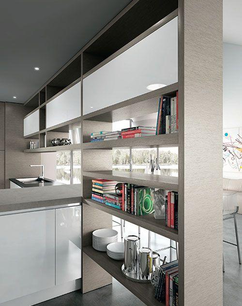 Biblioteca en la cocina ;)