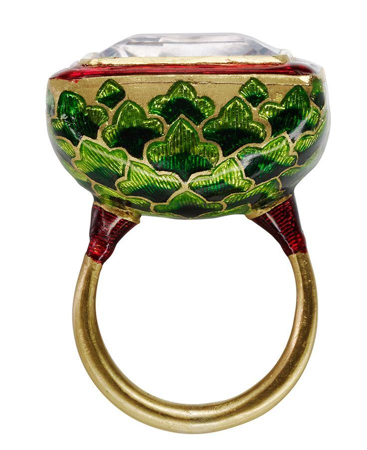 Jodhpur Miniature Leaf Ring by Alice Cicolini