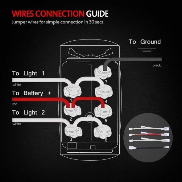 7 pin rocker switch wiring diagram winch  rocker switch wire