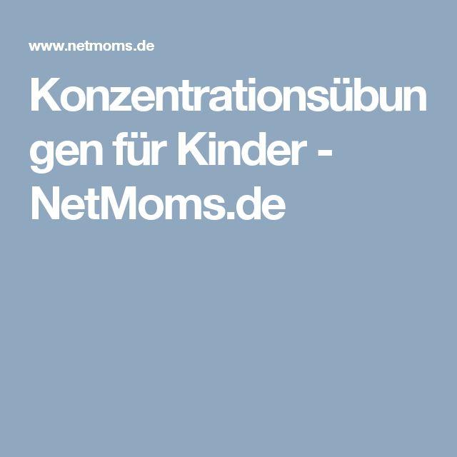 Konzentrationsübungen für Kinder - NetMoms.de