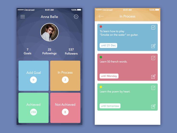 Goal App for iOS