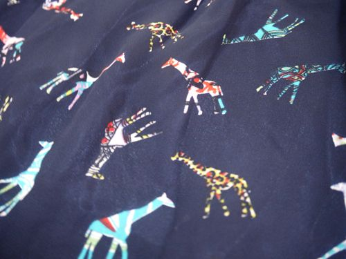 Fabric used in winter collection 2014. Giraffe.