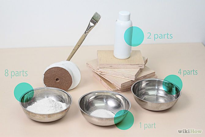 Make Traditional Gesso Using Acrylic Glue Step Very similar to my recipe for making my own white wash for wooden boards, but instead of zinc or titanium, I add ball clay, to get an off white colour, not a bright white.