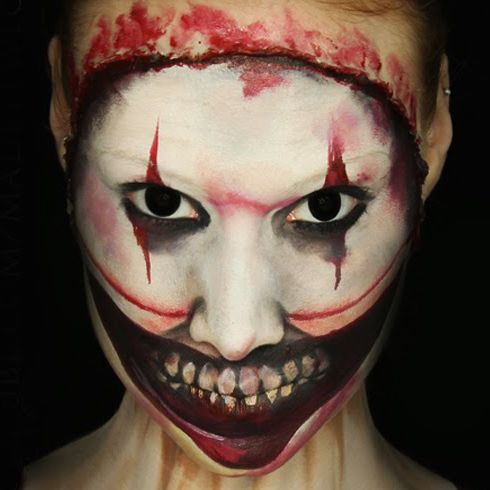 MadeYewLook has perfected the scary look of Twisty of the Clown from American Horror Story: Freak Show. Not only is it terrifying for Halloween makeup, it's slightly alluring.