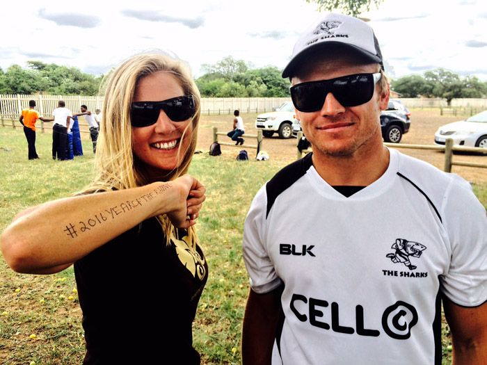 Sharks rugby team on a mission to save the rhino