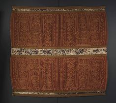 Woman's Ceremonial Skirt (Tapis) Date: 18th century or earlier Geography: Indonesia, Sumatra, Lampung province Culture: Lampung Medium: Cotton, silk.
