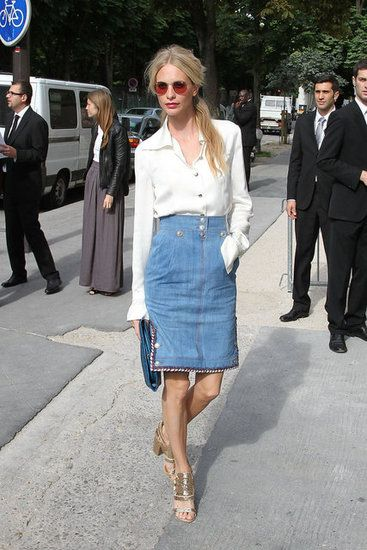 a touch on the denim trend