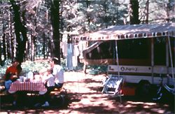 Wilson State Park, Harrison. Sandy swimming beach, modern lodge or teepee rentals.