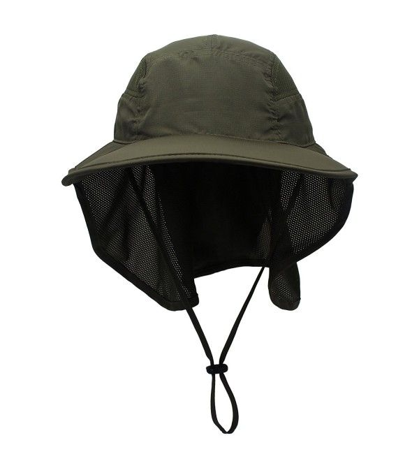 Outdoor Neck Flap Sun Hat Large Brim Sun Protection Bucket Fishing Hats Army Green C917yykdwds Fishing Hat Sun Hats Army Green