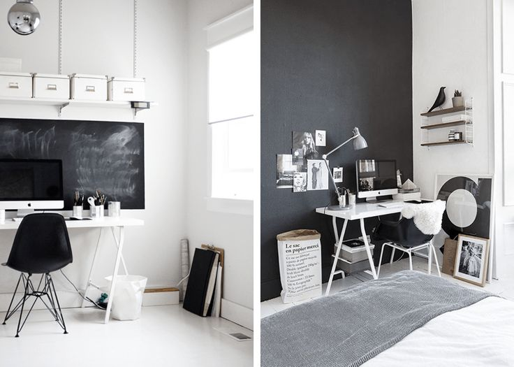 Really like the idea of a chalkboard and the black wall looks really nice96 best Workspace images on Pinterest   Architecture  Spaces and Home. Really Nice Office Furniture. Home Design Ideas