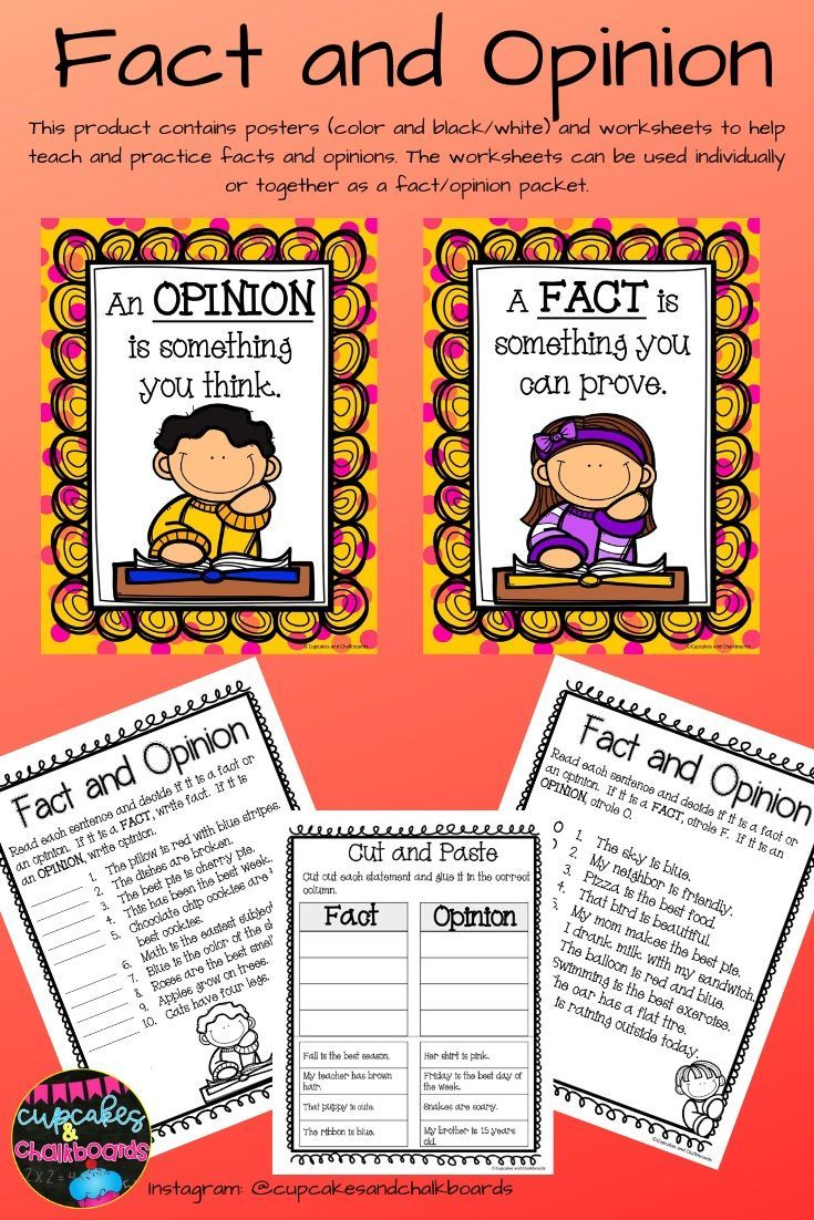 Fact And Opinion Worksheets And Posters Fact And Opinion Fact And Opinion Worksheet Teacher Time Savers
