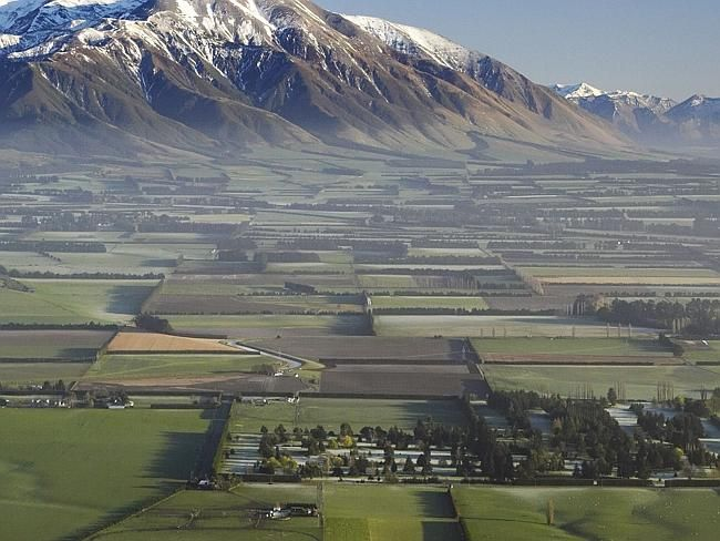 Earthquake hit Canterbury Plains in New Zealand this morning. Picture: Tourism New Zealan