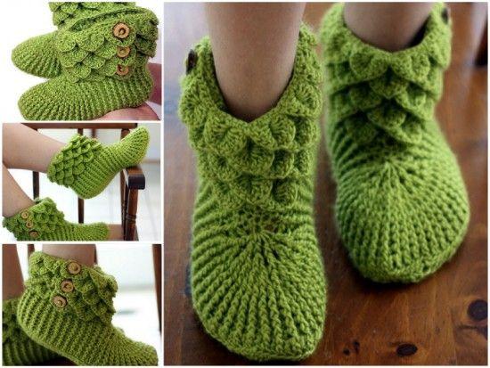 How To Crocodile Stitch Slippers And Booties