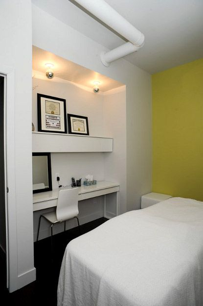 massage therapy room & option how to use closet