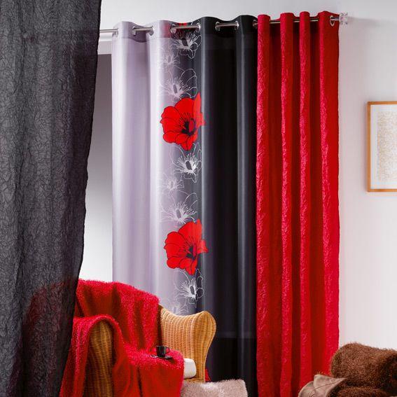 D coration salon gris et rouge recherche google id e - Decoration salon rouge ...