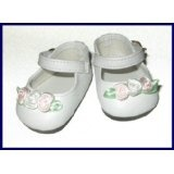 White Ankle Strap Mary Jane Doll Shoes Fit Bitty Baby and Terri Lee (Toy)