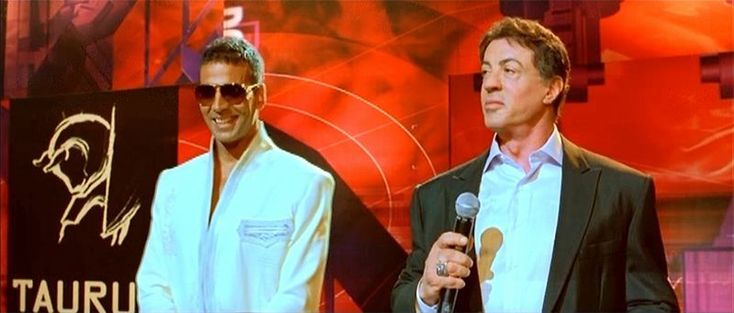 East Meets West: Sylvester Stallone and the Taming of the Shrew (Kambakkht Ishq) | Akshay Kumar, Sylvester Stallone | http://www.fallinginlovewithbollywood.com/2015/10/east-meets-west-sylvester-stallone-taming-of-the-shrew-kambakkht-ishq.html
