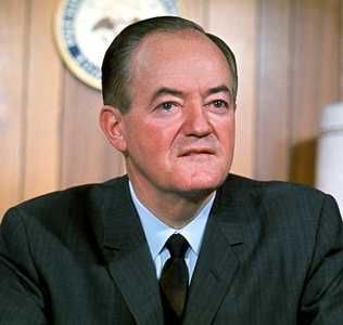 US Vice President to President Lyndon Johnson from 1965 to 1969, Hubert Humphrey