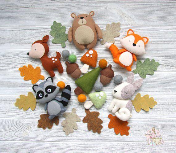 animal en peluche DOUDOU enfant bébé animaux de la forêt adorable RENARD