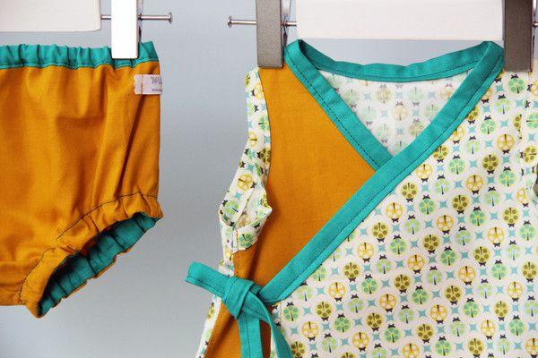 Baby Kimono Dress+Bloomers