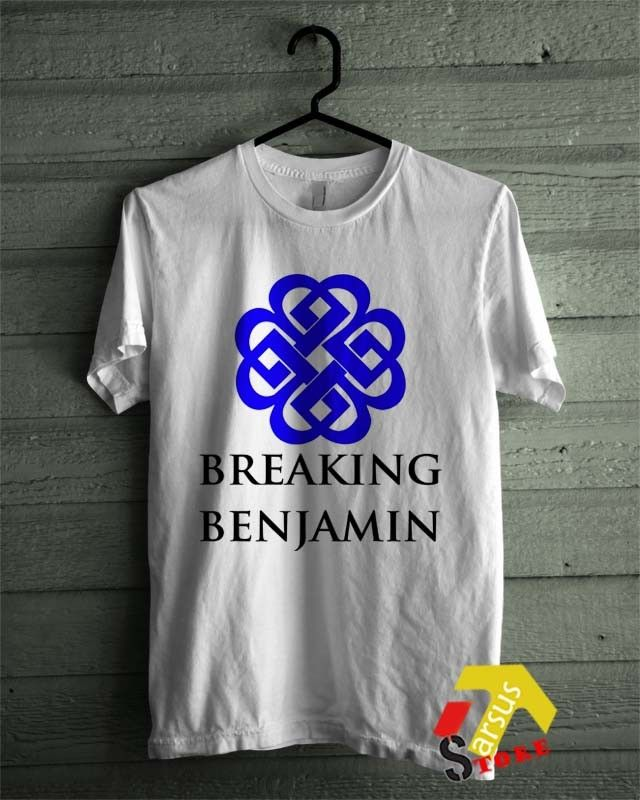 Breaking Benjamin Logo White T-Shirt Metal Rock Hardcore Music Legend