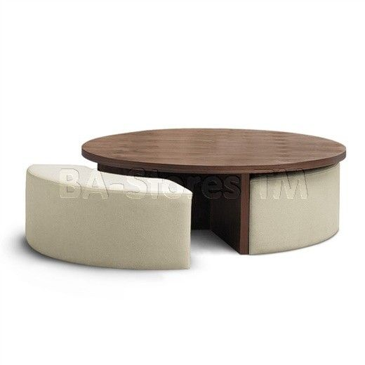 coffee table ottoman with seating | ... Loft Coffee Table With Seats | Coffee, Side and End Tables TK5015/3